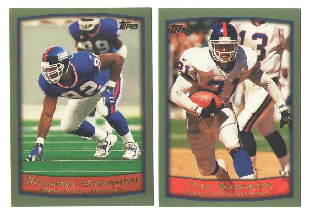 1999 Topps Football Team Set - NEW YORK GIANTS