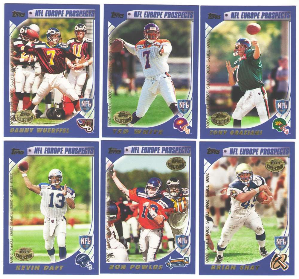 2000 Topps Collection Football Team Set - NFL Europe Prospects