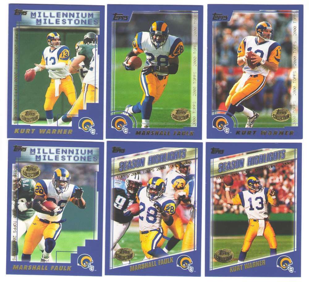 2000 Topps Collection Football Team Set - ST. LOUIS RAMS