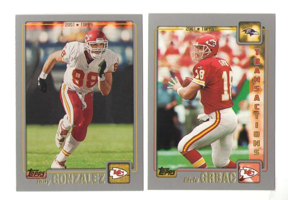 2001 Topps Football Team Set - KANSAS CITY CHIEFS