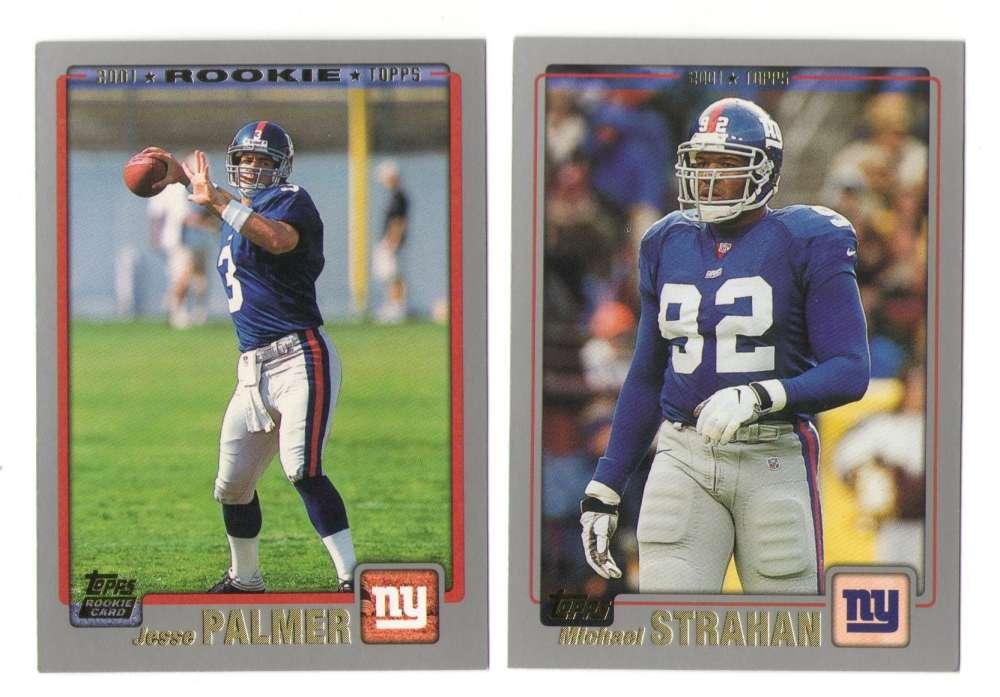 2001 Topps Football Team Set - NEW YORK GIANTS