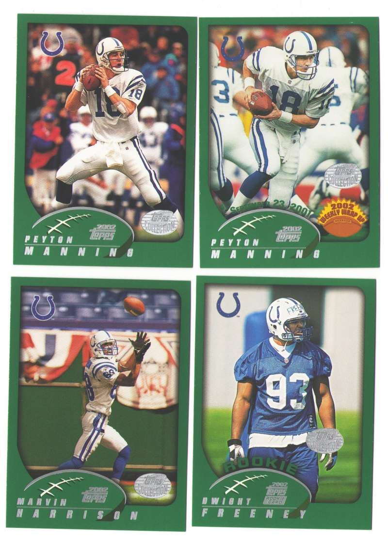 2002 Topps Collection Football Team Set - INDIANAPOLIS COLTS
