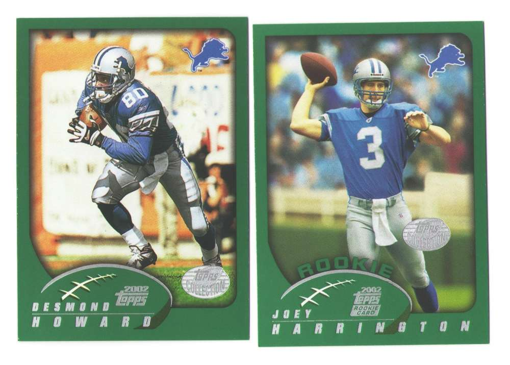 2002 Topps Collection Football Team Set - DETROIT LIONS