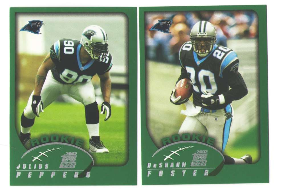 2002 Topps Football Team Set - CAROLINA PANTHERS
