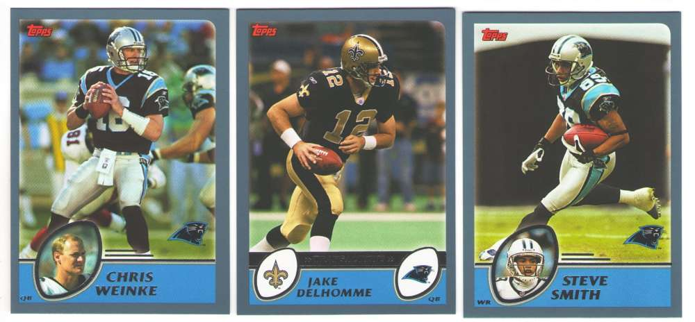 2003 Topps Football Team Set - CAROLINA PANTHERS