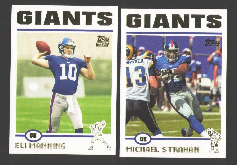2004 Topps Football Team Set - NEW YORK GIANTS w/ ELI MANNING RC