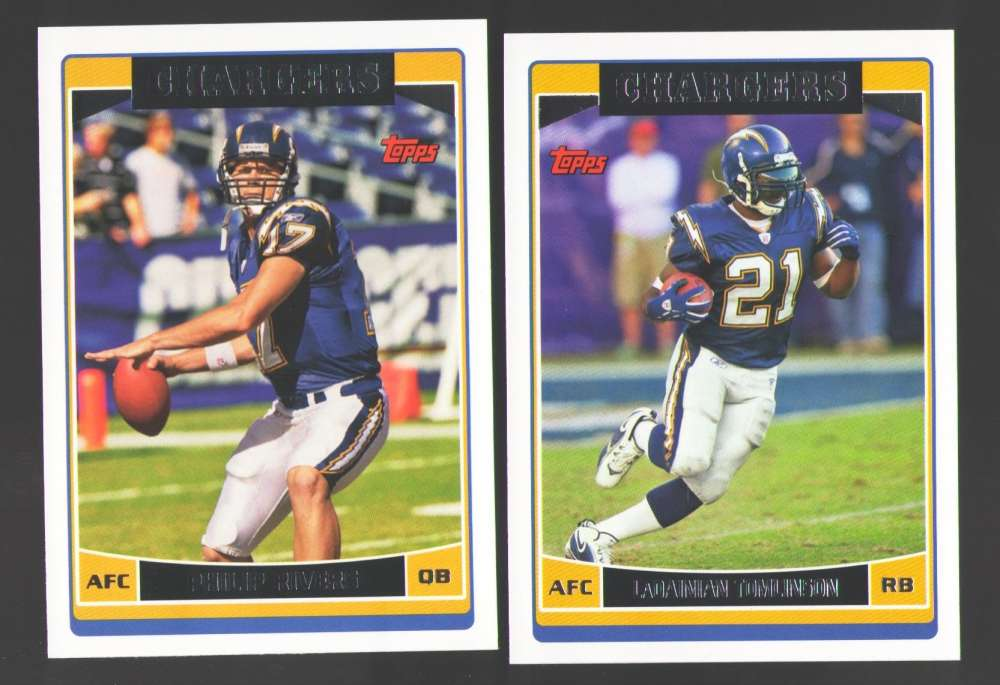 2006 Topps Football Team Set - SAN DIEGO CHARGERS