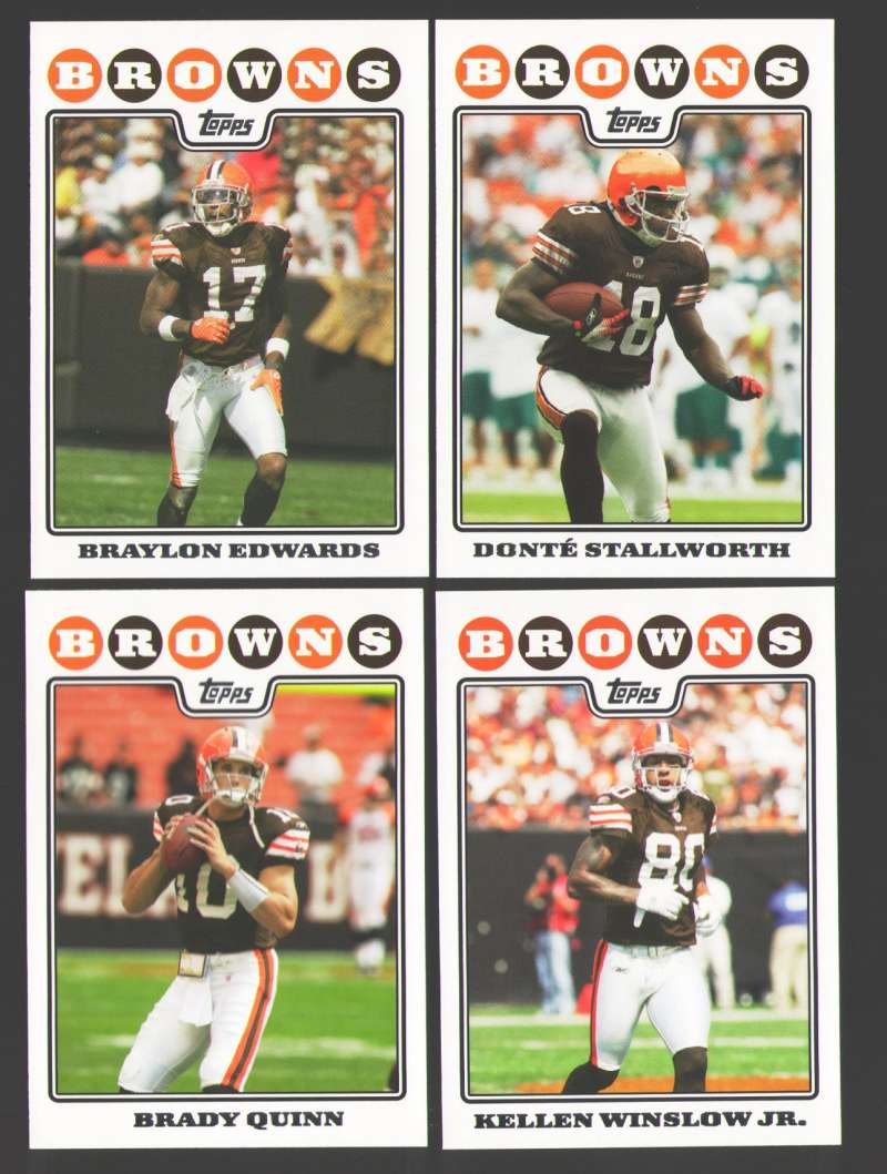 2008 Topps Football Team set - CLEVELAND BROWNS