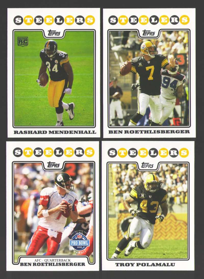 2008 Topps Football Team set - PITTSBURGH STEELERS