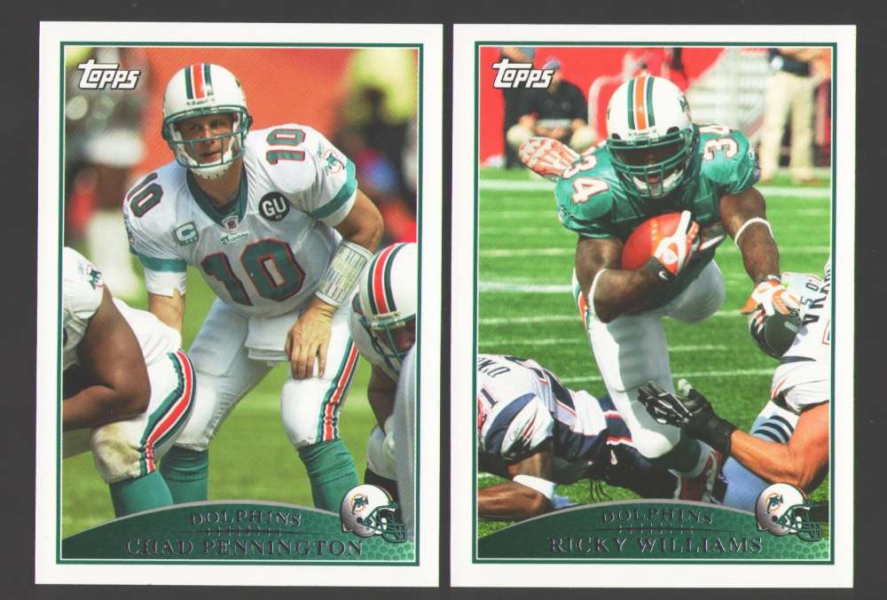 2009 Topps Football Team Set - MIAMI DOLPHINS