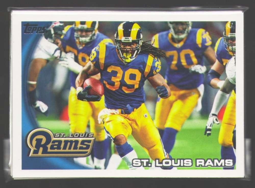 2010 Topps Football Team Set - ST. LOUIS RAMS
