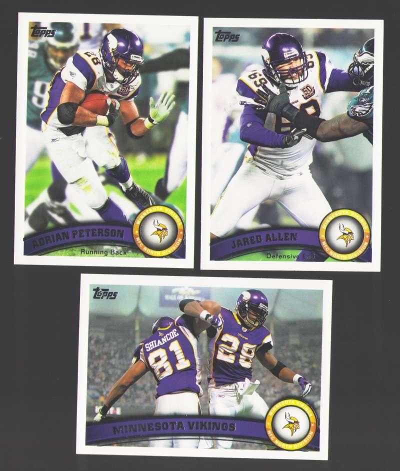 2011 Topps Football Team Set Minnesota Vikings - 11 Cards