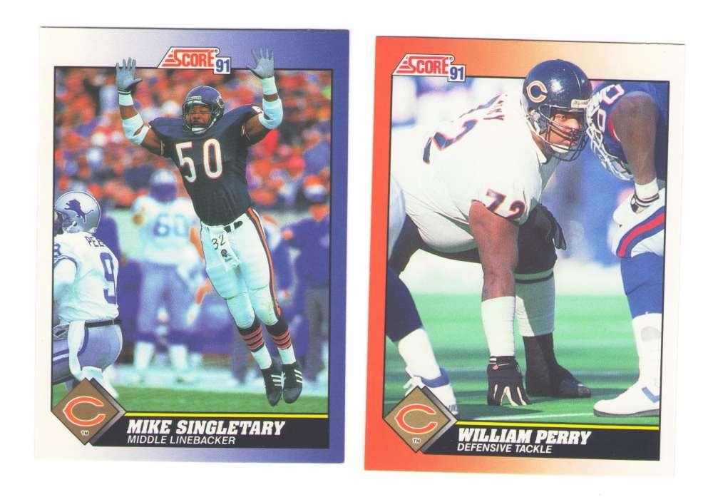 1991 Score Football Team Set - CHICAGO BEARS