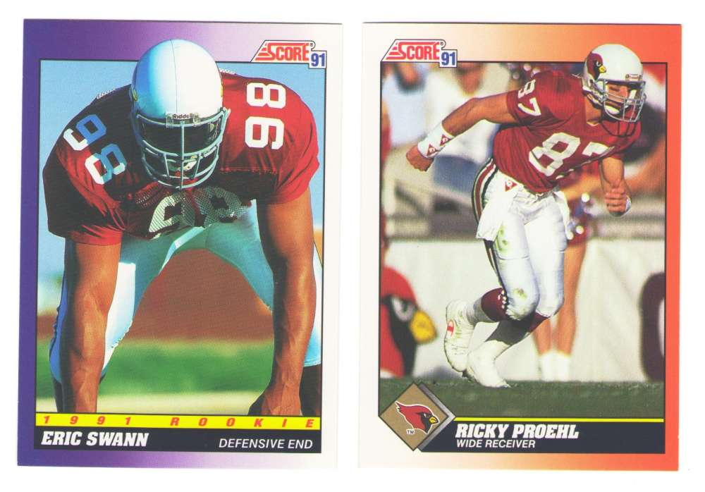 1991 Score Football Team Set - PHOENIX CARDINALS
