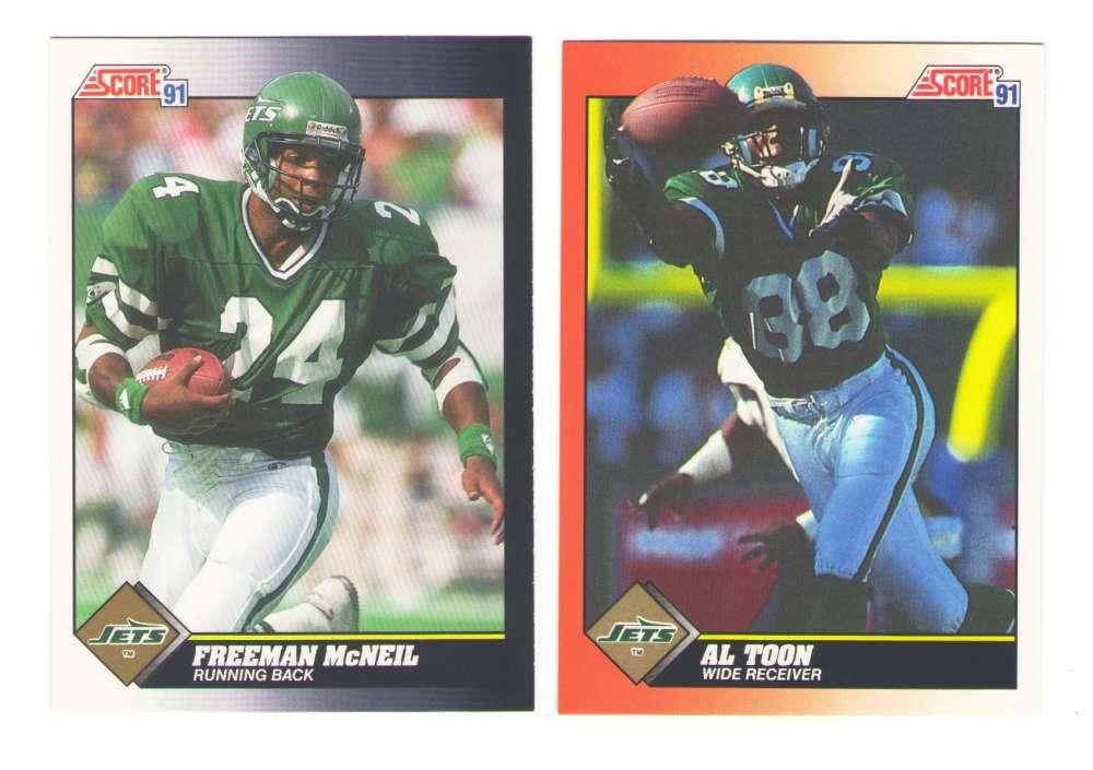 1991 Score Football Team Set - NEW YORK JETS