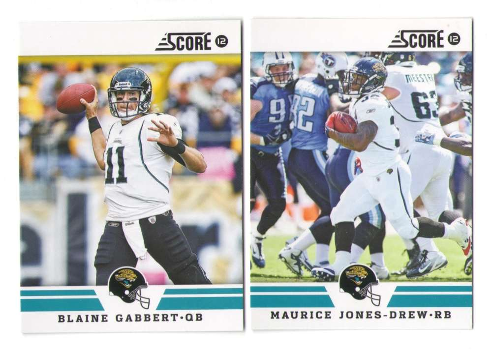 2012 Score Football Team Set - JACKSONVILLE JAGUARS