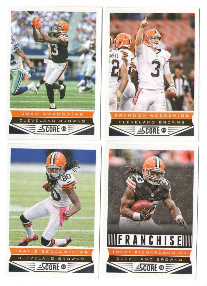 2013 Score Football Team Set w/ RC - CLEVELAND BROWNS