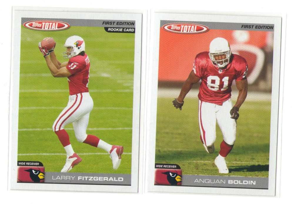 2004 Topps Total First Edition Football Team Set - ARIZONA CARDINALS