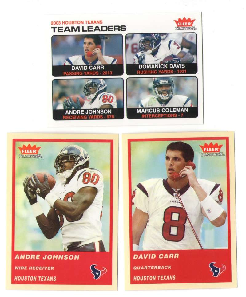 2004 Fleer Tradition (1-360) Football Team Set - HOUSTON TEXANS