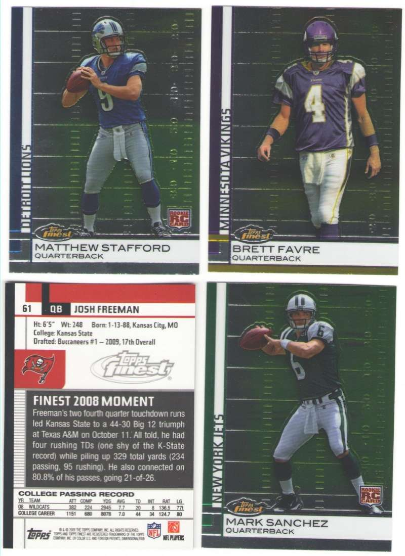 2009 FINEST Football Team Set - NEW ENGLAND PATRIOTS