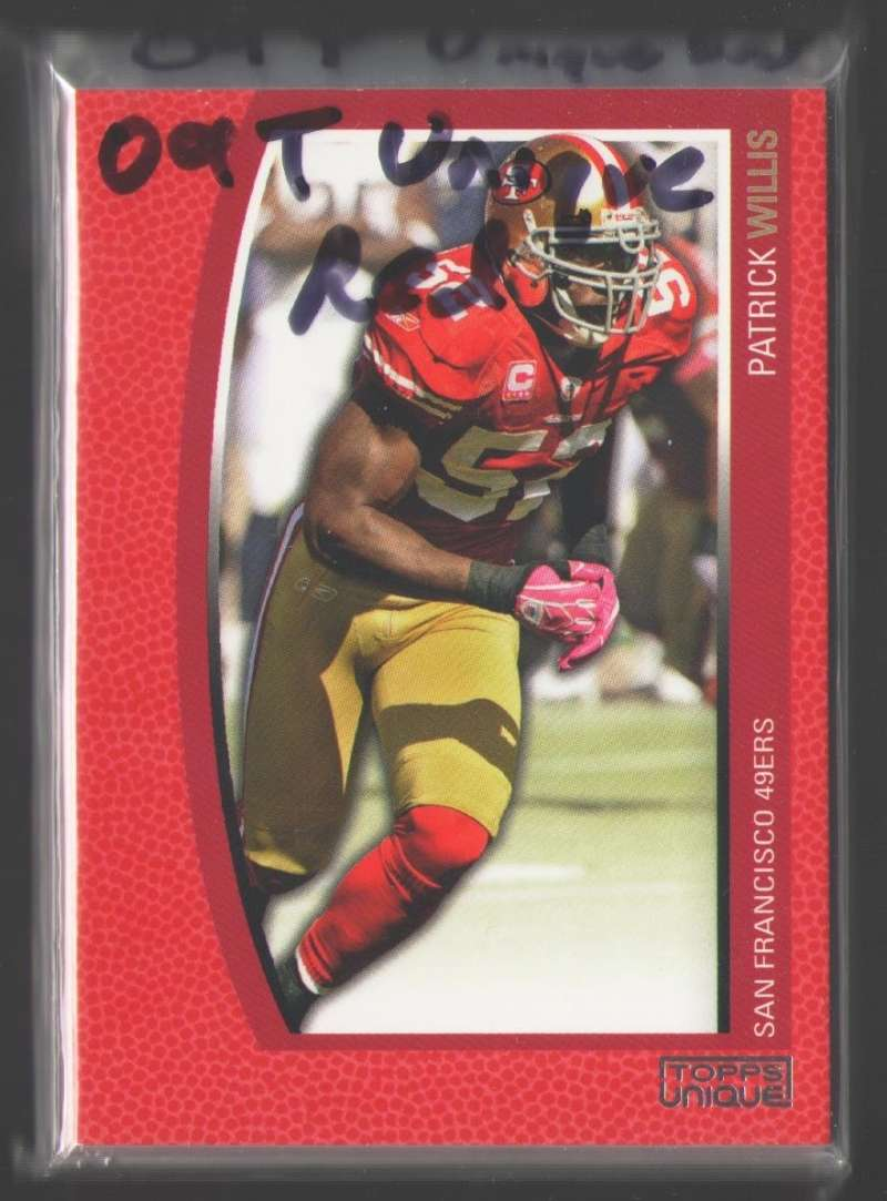 2009 Topps Unique Red (#ed /799) Football Team Set - SAN FRANCISCO 49ERS