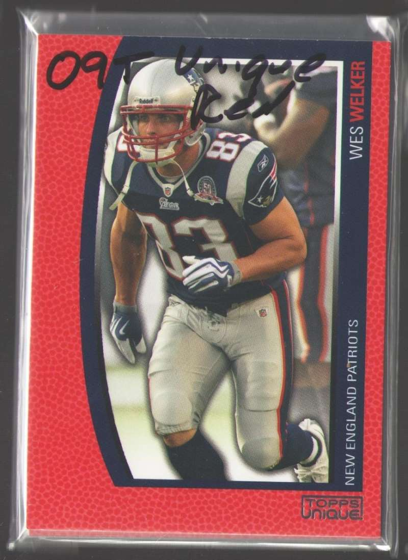 2009 Topps Unique Red (#ed /799) Football Team Set - NEW ENGLAND PATRIOTS
