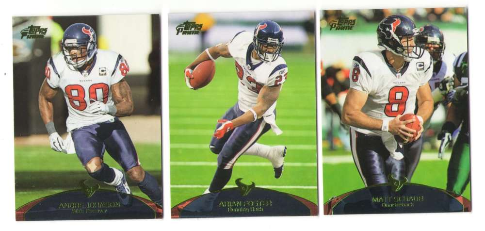 2011 Topps Prime Aqua Football Team Set - HOUSTON TEXANS