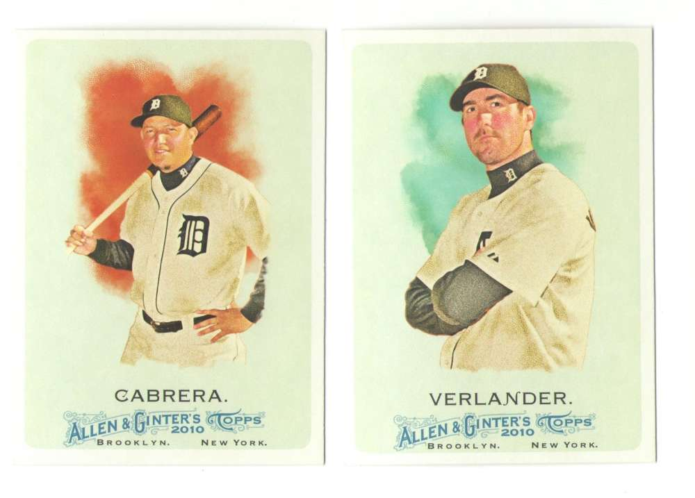 2010 Topps Allen and Ginter (1-350) - DETROIT TIGERS Team Set