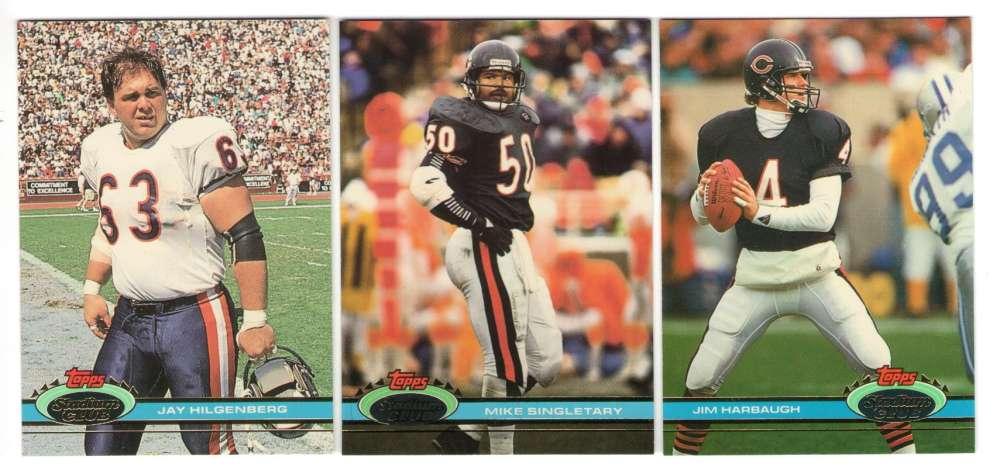 1991 Topps Stadium Club Football Team Set - CHICAGO BEARS