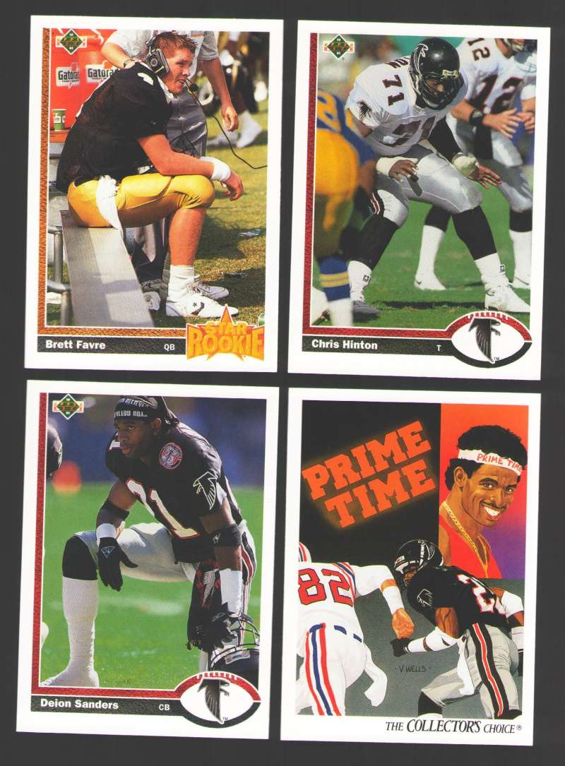 1991 Upper Deck (1-500) Football Team Set - ATLANTA FALCONS