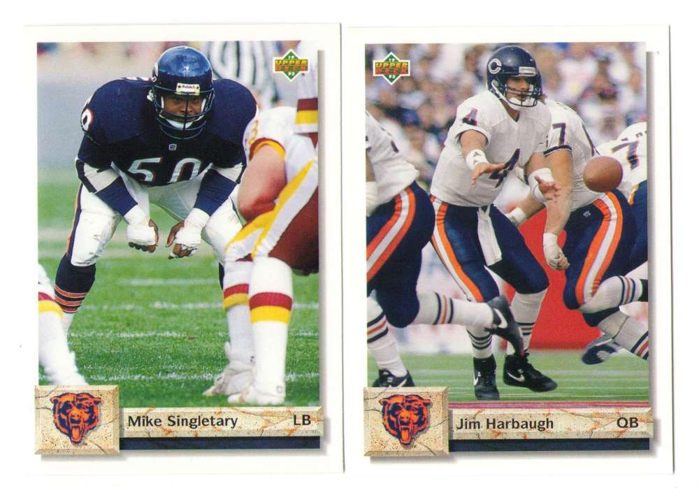1992 Upper Deck Football Team Set - CHICAGO BEARS