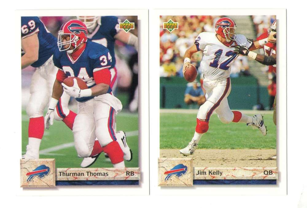 1992 Upper Deck Football Team Set - BUFFALO BILLS