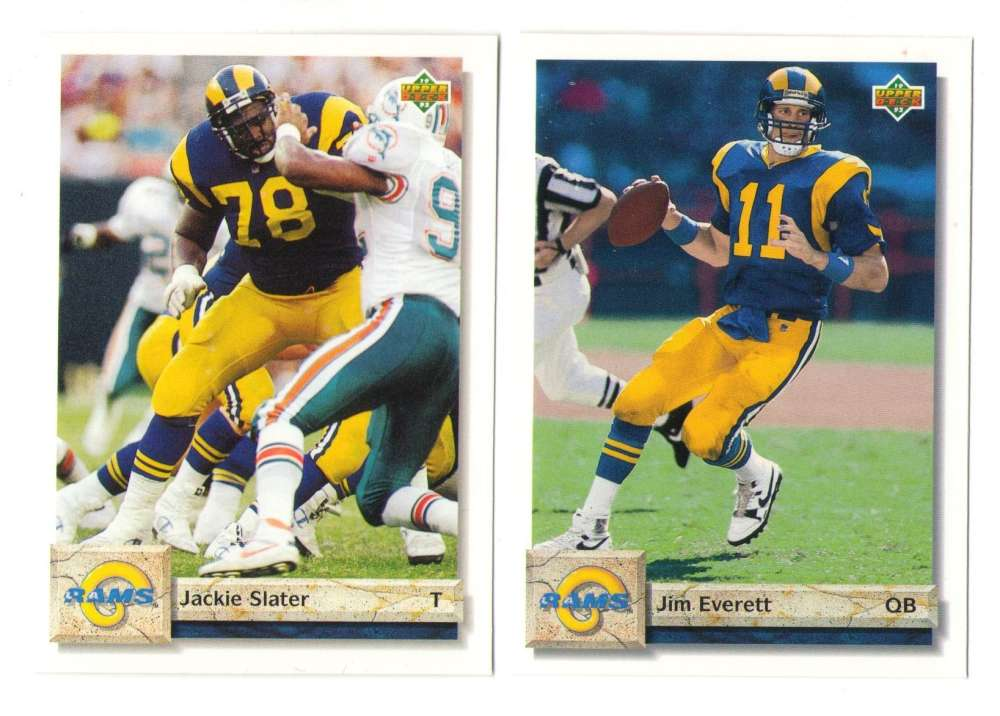 1992 Upper Deck Football Team Set - LOS ANGELES RAMS