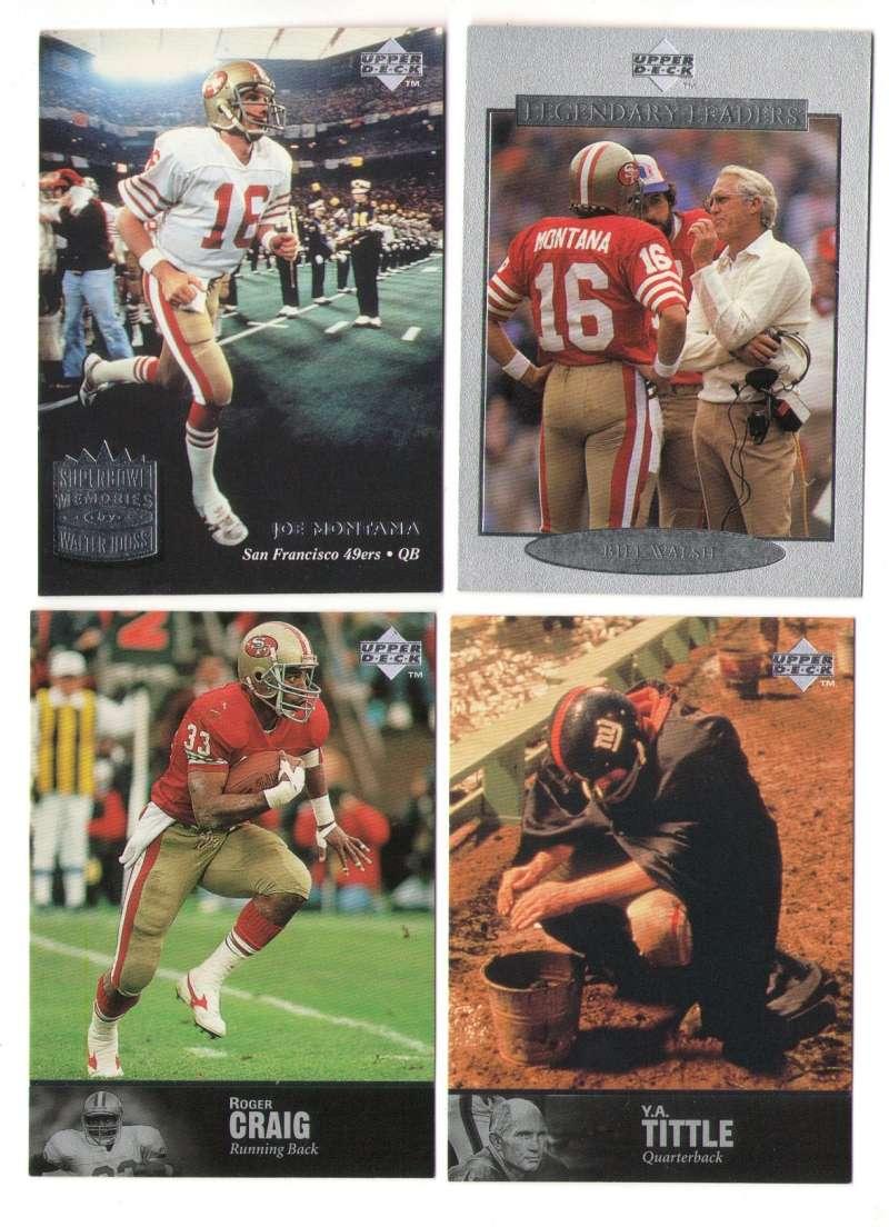 1997 Upper Deck Legends Football Team Set - SAN FRANCISCO 49ERS