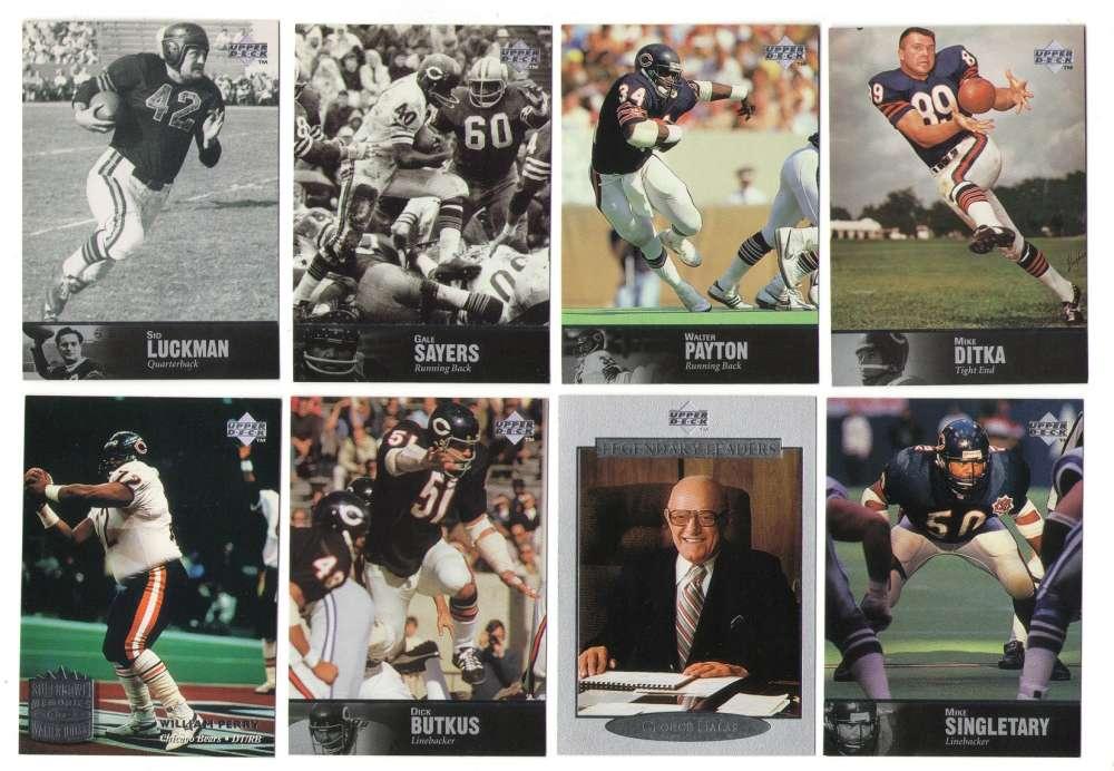 1997 Upper Deck Legends Football Team Set - CHICAGO BEARS