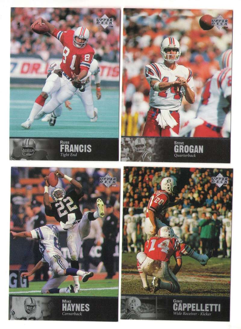 1997 Upper Deck Legends Football Team Set - NEW ENGLAND PATRIOTS