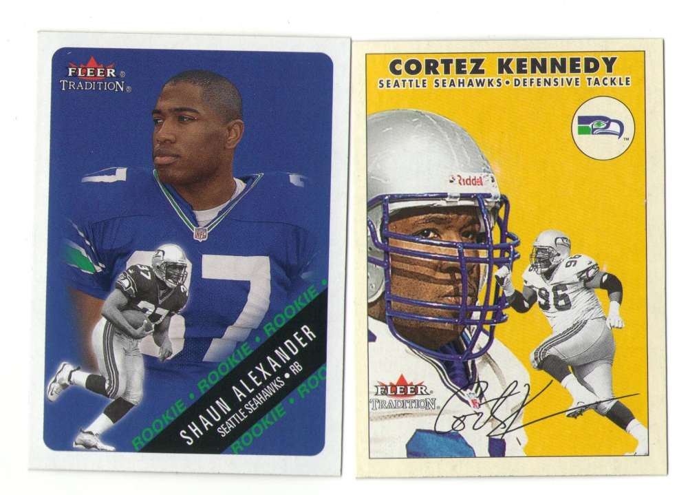 2000 Fleer Tradition Football Team Set - SEATTLE SEAHAWKS