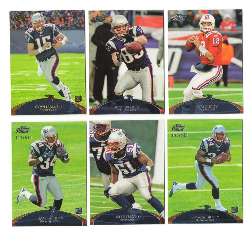 2011 Topps Prime Football Team Set - NEW ENGLAND PATRIOTS    w/  1 #ed 699