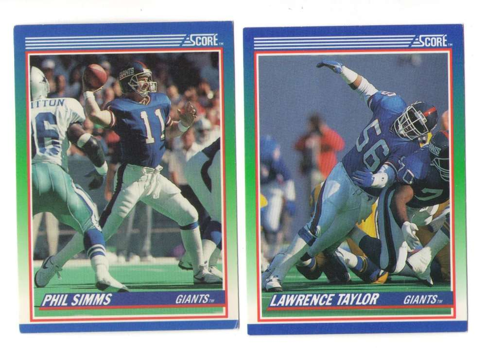 1990 Score Football Team Set - NEW YORK GIANTS