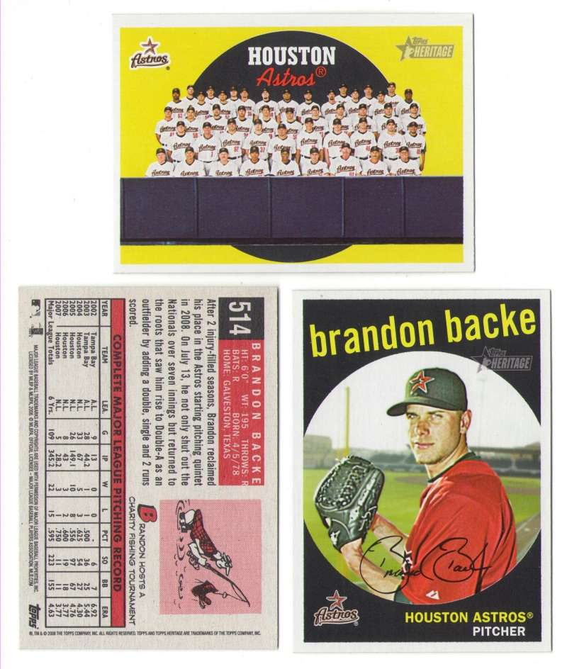 2008 Topps Heritage High Numbers Master - HOUSTON ASTROS Team set