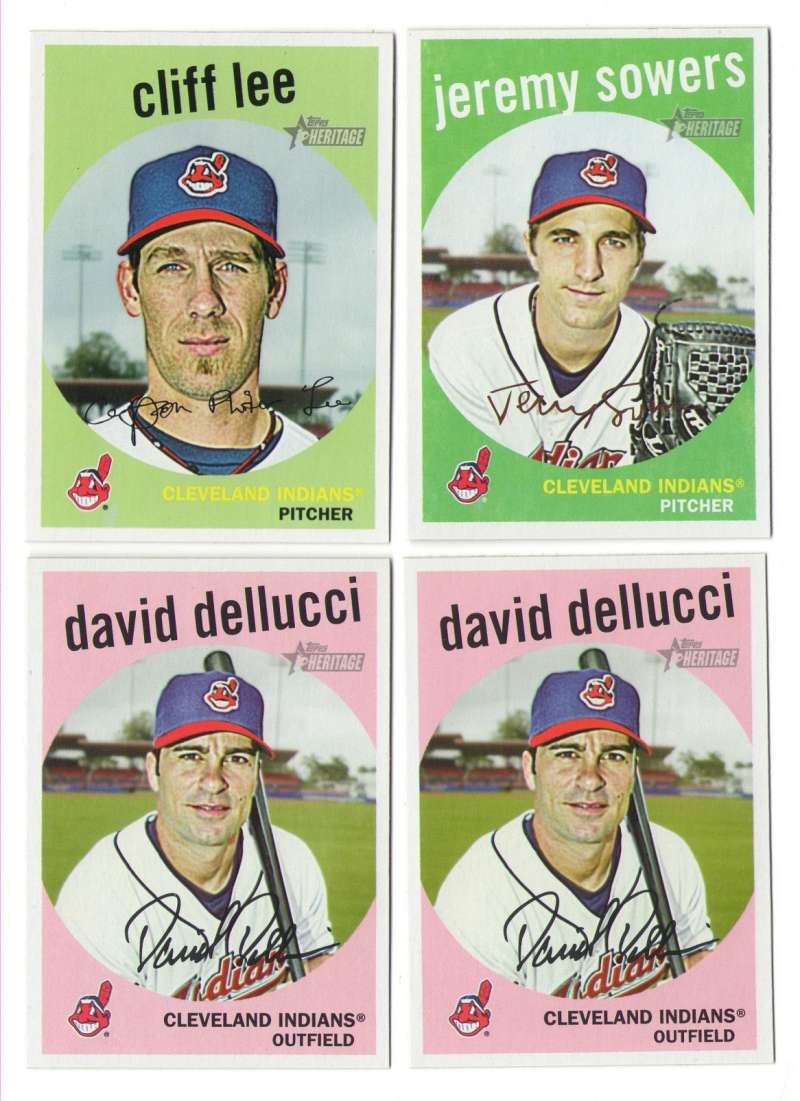 2008 Topps Heritage High Numbers Master - CLEVELAND INDIANS Team Set