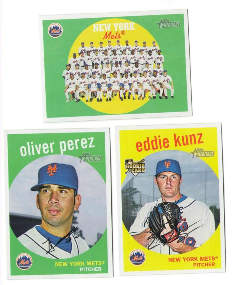 2008 Topps Heritage High Numbers Master - NEW YORK METS Team Set