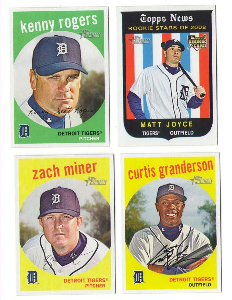 2008 Topps Heritage High Numbers Master - DETROIT TIGERS Team Set