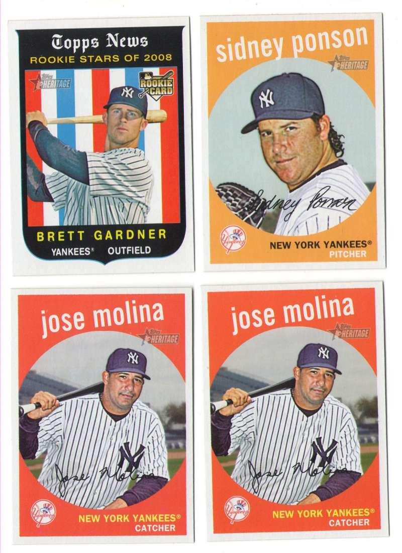 2008 Topps Heritage High Numbers Master - NEW YORK YANKEES Team Set