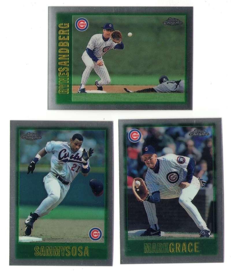 1997 Topps Chrome - CHICAGO CUBS Team Set