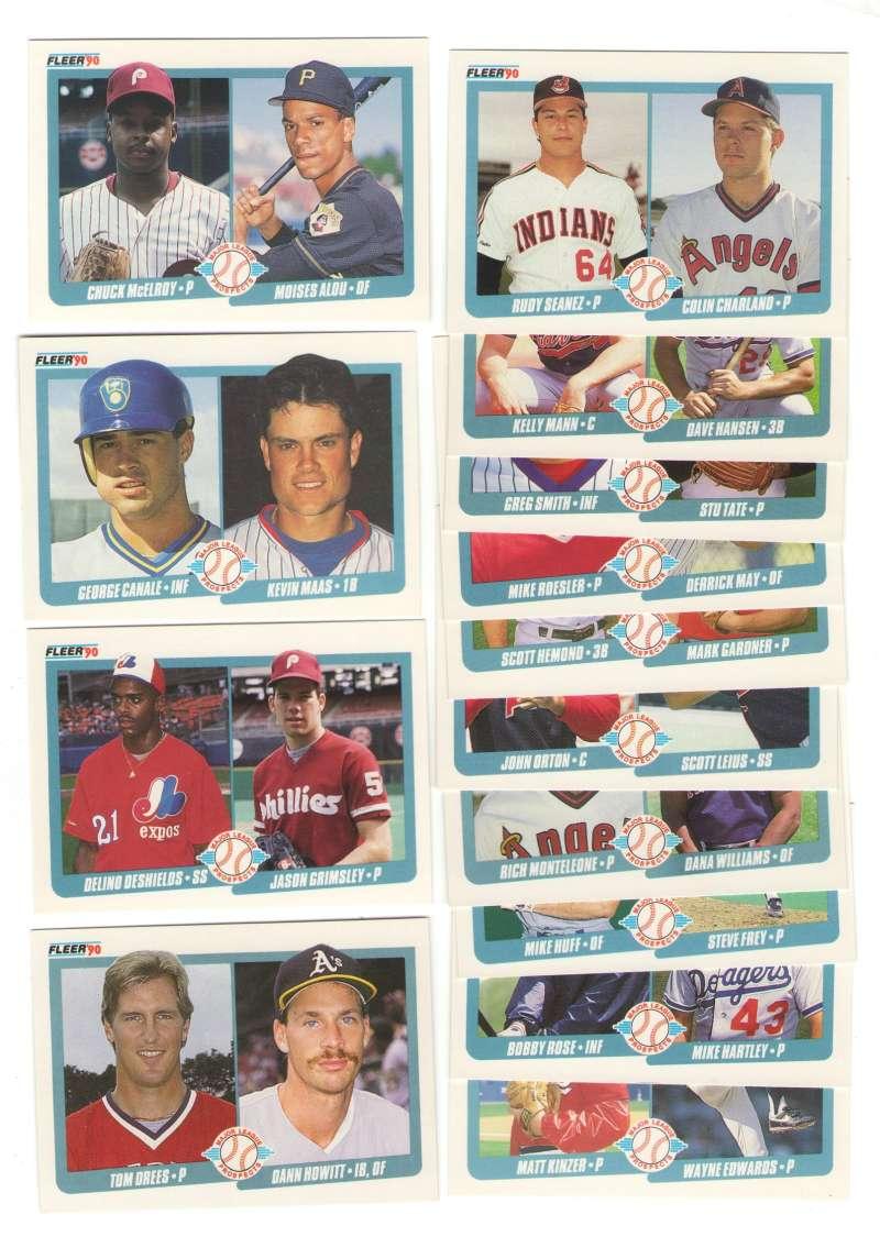 1990 Fleer - Major League Prospects (14 cards lot)