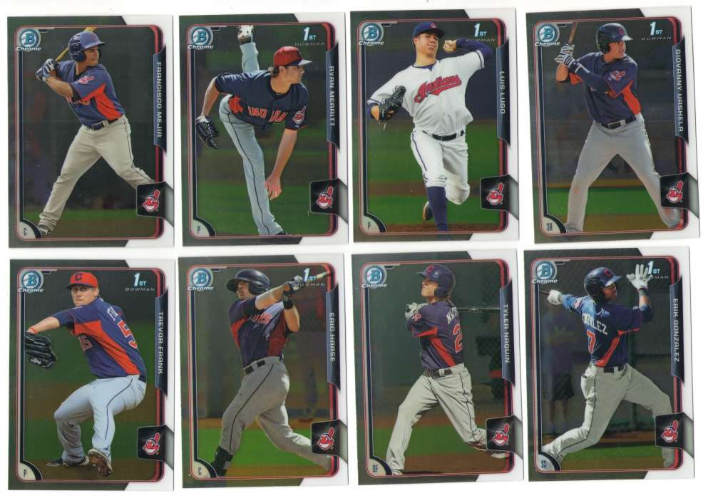 2015 Bowman Chrome Prospects (1-150) - CLEVELAND INDIANS Team Set