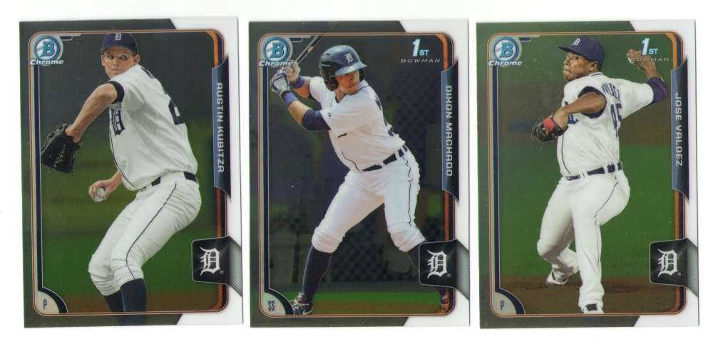 2015 Bowman Chrome Prospects (1-150) - DETROIT TIGERS Team Set
