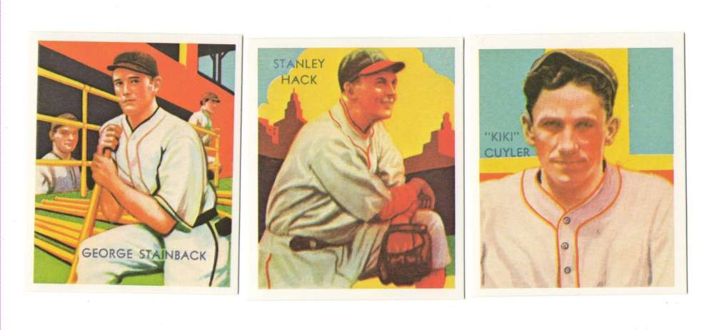 1934-36 National Chicle (Diamond Stars) Reprints - CHICAGO CUBS Team Set