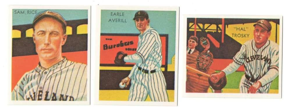 1934-36 National Chicle (Diamond Stars) Reprints - CLEVELAND INDIANS Team Set